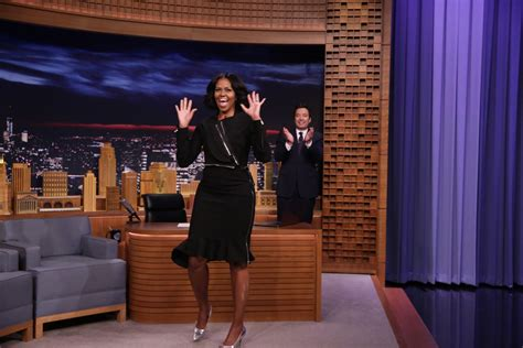 michelle rodriguez jimmy fallon michelle obama wears edgy outfit for final talk show