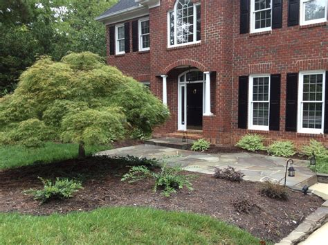 beautiful landscape and natural stone walkway in raleigh nc