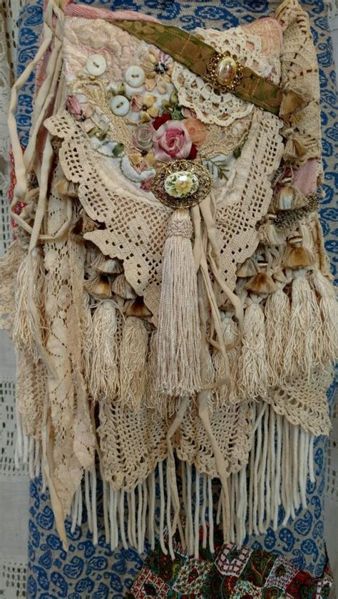 Handmade Boho Clothing - handmade vintage lace cross bag hippie crochet boho