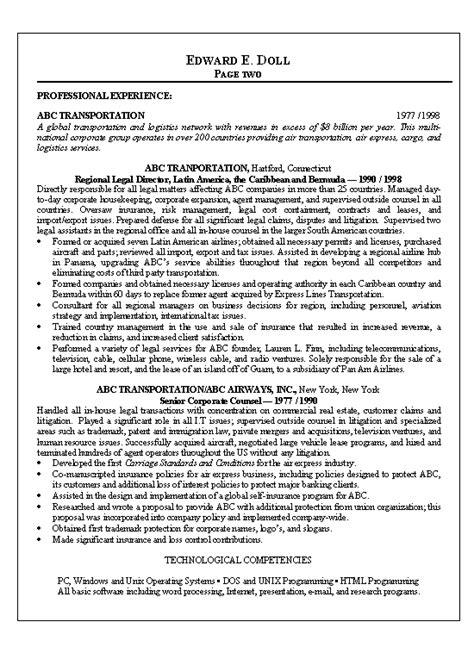 Compliance Attorney Sample Resume