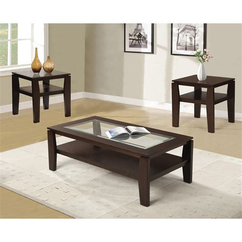 furniture wooden coffee table set with glass also pattern