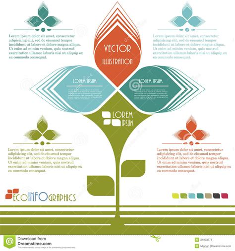 modern design ecology business template stock images
