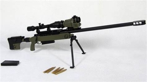 Tac 50 Sniper Rifle Green Skala 1 6 Kitbash Figure Part zy toys green mcmillan tac 50 sniper rifle 1 6 weapon
