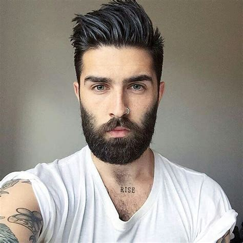great hairstyle with goatee great hair tatts nose ring prefer less facial hair