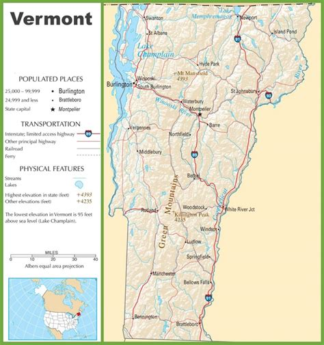 road map of vt vermont highway map