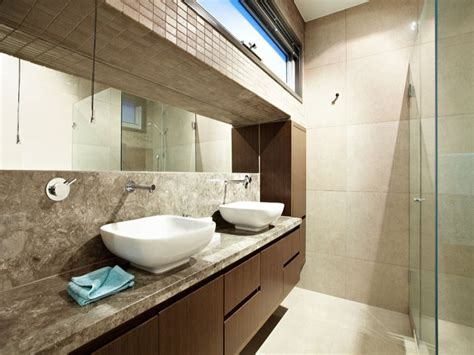 modern bathroom design with twin basins using marble bathroom photo 482810