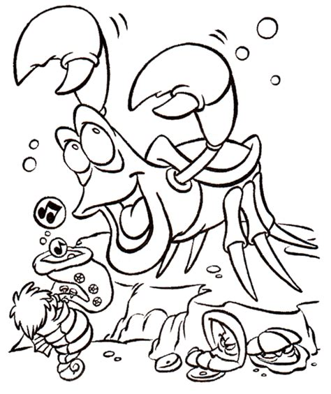 little mermaid sebastian coloring pages sebastian coloring book