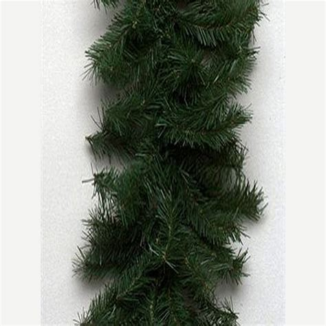 best xmas lighted garlands 100ft shop vickerman 100 ft indoor outdoor canadian pine artificial garland unlit at lowes