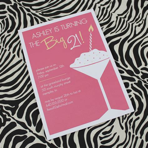 21st birthday invitation template for girls download print