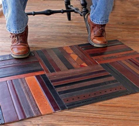 recycled leather belt floor map craft ideas