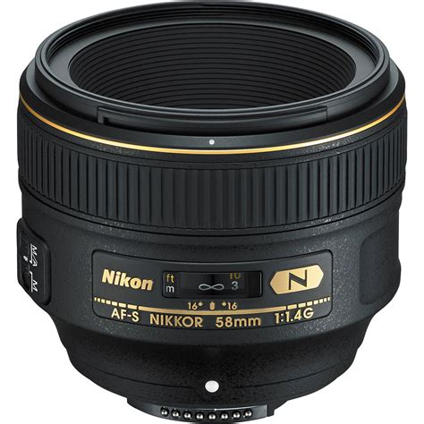 nikon lens nikon af s nikkor 58mm f 1 4g lens 2210 b h photo