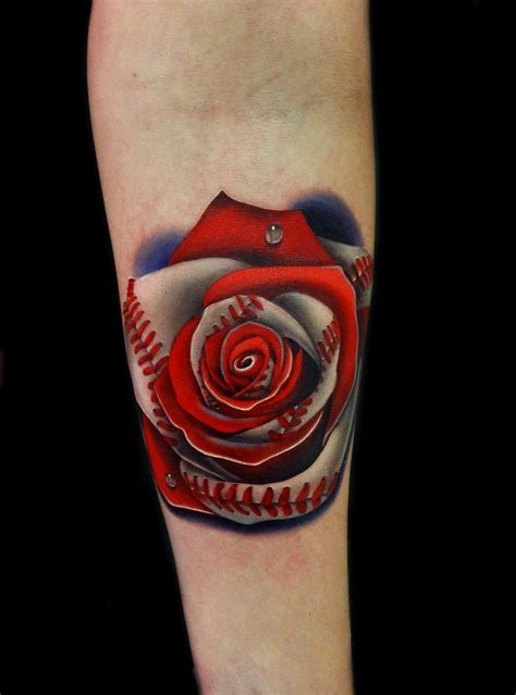 good rose tattoos not your typical this baseball by andres at