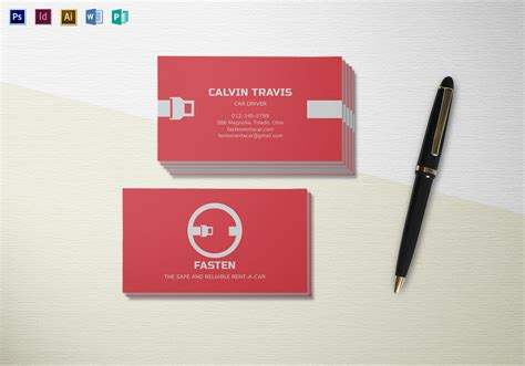 rental business card template rent a car business card template in psd word publisher