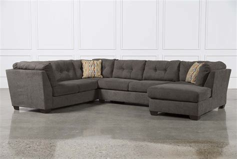 living spaces chaise sofa delta city steel 3 piece sectional w raf chaise living