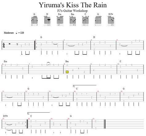 cara bermain kiss the rain guitar fj s guitar workshop 吉他演奏 yiruma s kiss the rain