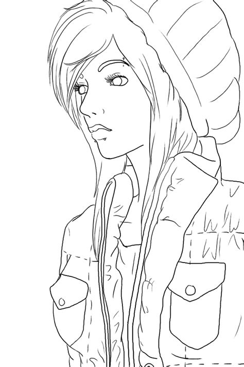 hipster girl coloring page hipster tumblr girl coloring pages sketch coloring page