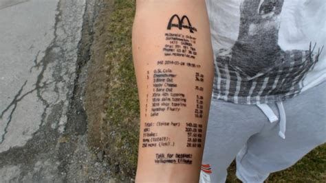mcdonalds tattoo what a tat tool who got mcdonald s