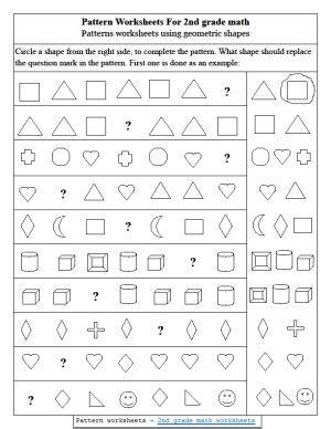 pattern worksheets for grade 1 pdf pattern worksheets 2nd grade quinto pinterest