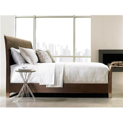 Modern Sleigh Bed Rustic Wood Modern Brass Sleigh Bed Kathy Kuo Home