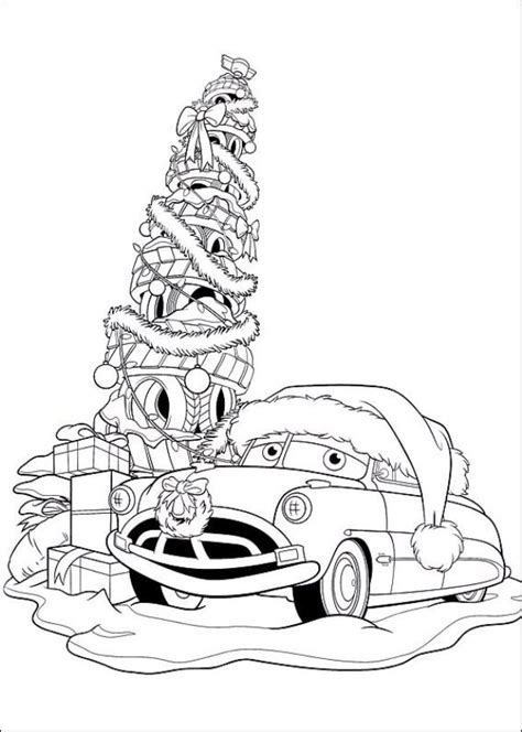 kids n fun com 5 coloring pages of cars christmas