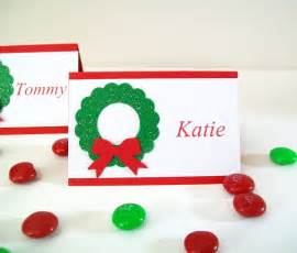 items similar to christmas place cards personalized