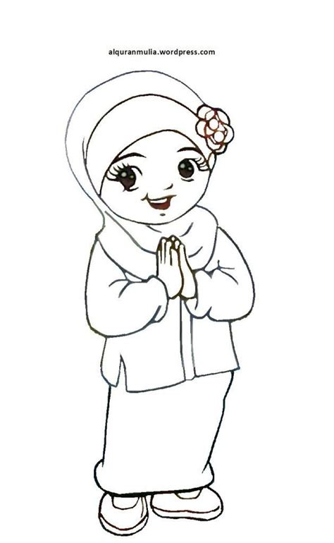 pelbagai contoh gambar mewarna kartun islam