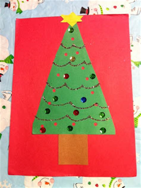 xmas tree activity out of construction paper kindergarten at play winter craftivities