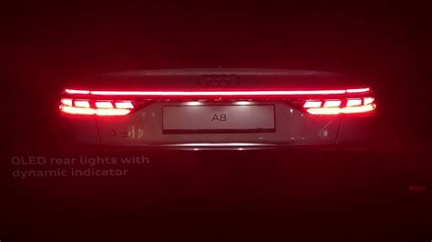 Audi A8 R Ckleuchten by Audi A8 Oled Rear Lights 2018 Hd