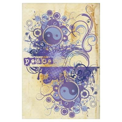 purple peace chakra poster the color purple