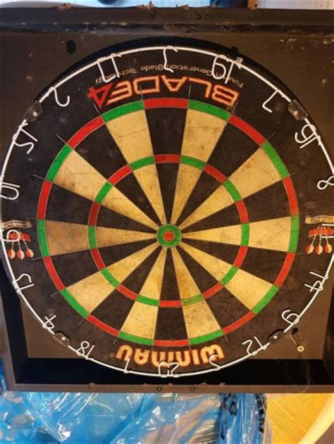 Dartboard And Cabinet by Winmau Blade 4 Dartboard And Cabinet For Sale In