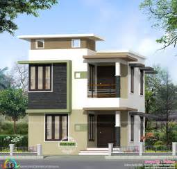 small house design 2000 square 1631 sq ft budget flat roof home kerala home design and