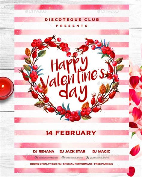 valintines day card template psd 17 best valentines day flyers cards templates 2017