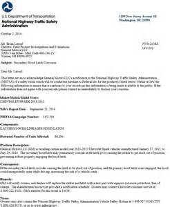 Chevrolet Recall List 2014 2015 Chevy Spark Ev Recalled For Latch Corrosion