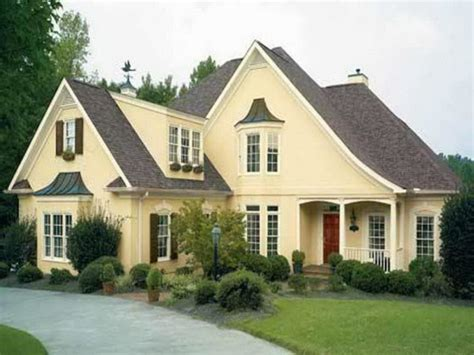 exterior delectable home exterior design and decoration using brown roof tile including light