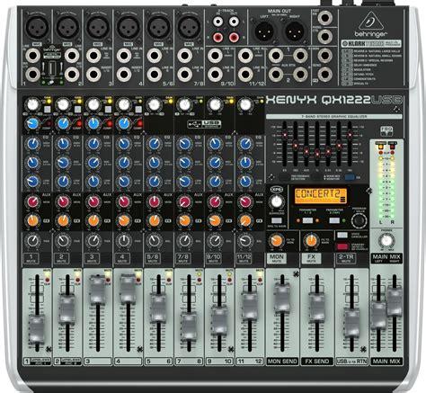 List Mixer Behringer Behringer Qx1222usb Xenyx Usb Mixer 12 Channel New
