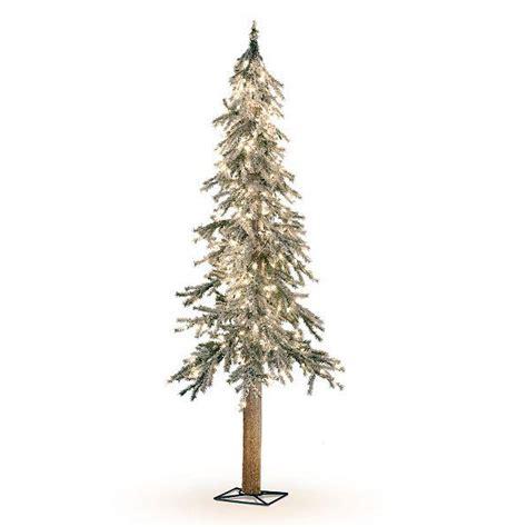 pre lighted trees lighted pre lit flocked alpine tree indoor