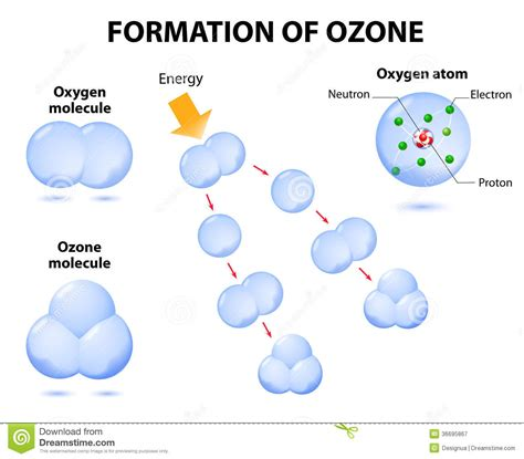 Credit Formation Individualisé Molecules Ozone And Oxygen Royalty Free Stock Photography Image 36695867
