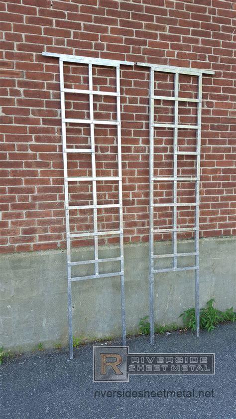 lead coated copper trellis custom made