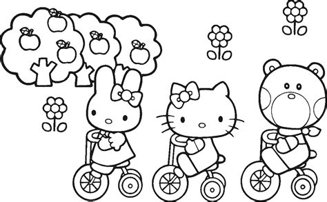 coloring pages hello kitty and friends coloring pages hello kitty and friends