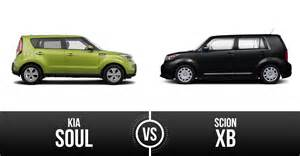 kia soul vs scion xb best box car