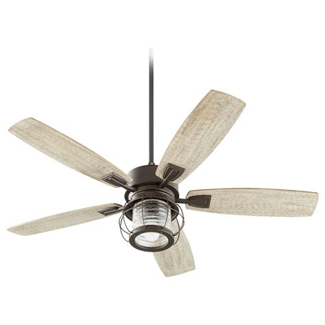 seeded glass ceiling fan seeded glass ceiling fan with light oiled bronze quorum