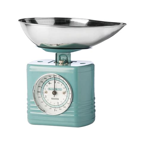 typhoon vintage kitchen scales 2kg 4lbs colour coated
