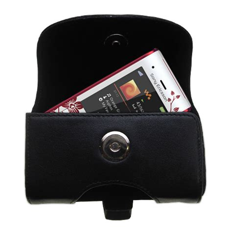 Cassing Sony Ericsson W595 Oc gomadic brand horizontal black leather carrying for the sony ericsson w595 with integrated