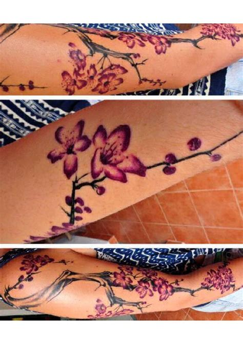 cherry blossom henna tattoo 25 best ideas about realistic sleeve on