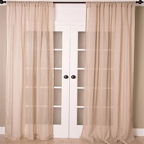 108 inch sheer curtains buy aura 108 inch striped sheer window curtain panel in