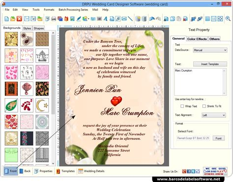 wedding card maker software screenshots how to generate wedding cards