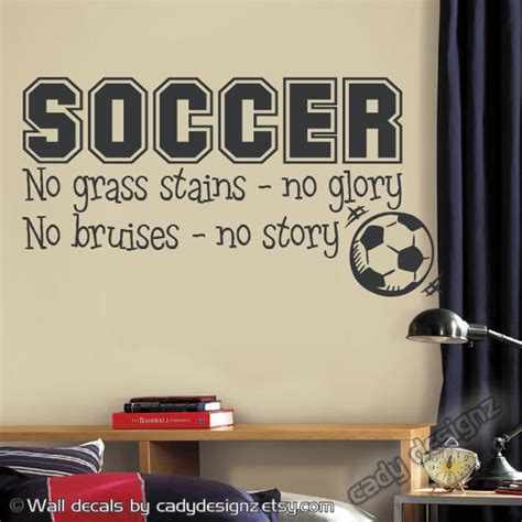 soccer decals for bedroom soccer sports vinyl wall decal children decor by studio378decals