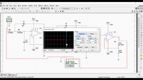 high pass filter using multisim multisim simulation of low pass filter