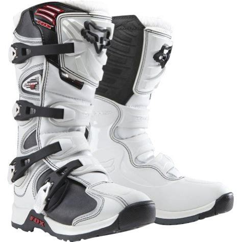 size 6 motocross boots fox racing comp 5 youth boys mx motorcycle boots white
