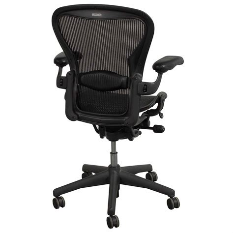 Aeron Chair White by Herman Miller Aeron Used Size B Leather Arm Task Chair